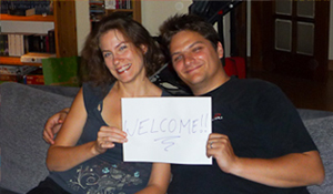 Het gezin van de stichter: Adeline & Christophe