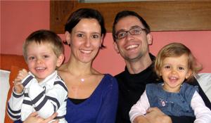 Het gezin van de stichter: Laure & Olivier